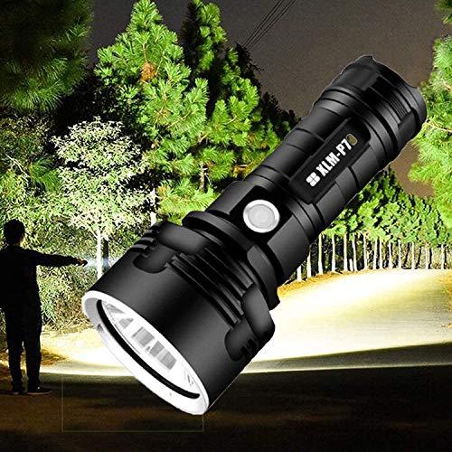 Rechargeable LED Flashlight, 30000-100000 Lumen High Power LED Waterproof Flash Light Lamp Ultra Bright (50W XLM-P70, Single Lithium Battery)