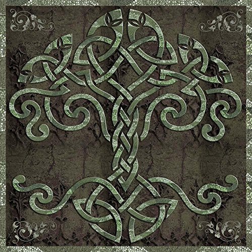 Wallmonkeys Celtic Tree of Life Wall Decal Peel and Stick Graphic WM177411 (24 in H x 24 in W)