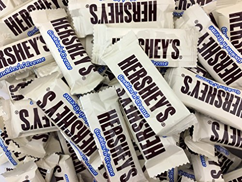 HERSHEY'S Cookies 'n' Crème Snack Size Bars, Treats Bars (Pack of 2 Pounds)