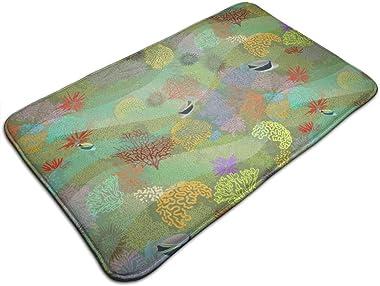 Humuhumu in Coral Garden 150_3834 Personalized Custom Doormats Indoor/Outdoor Doormat Door Mats Non Slip Rubber Kitchen Rugs
