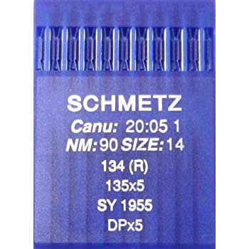 Agujas de coser a máquina Schmetz redondas, 10 unidades, sistema ...