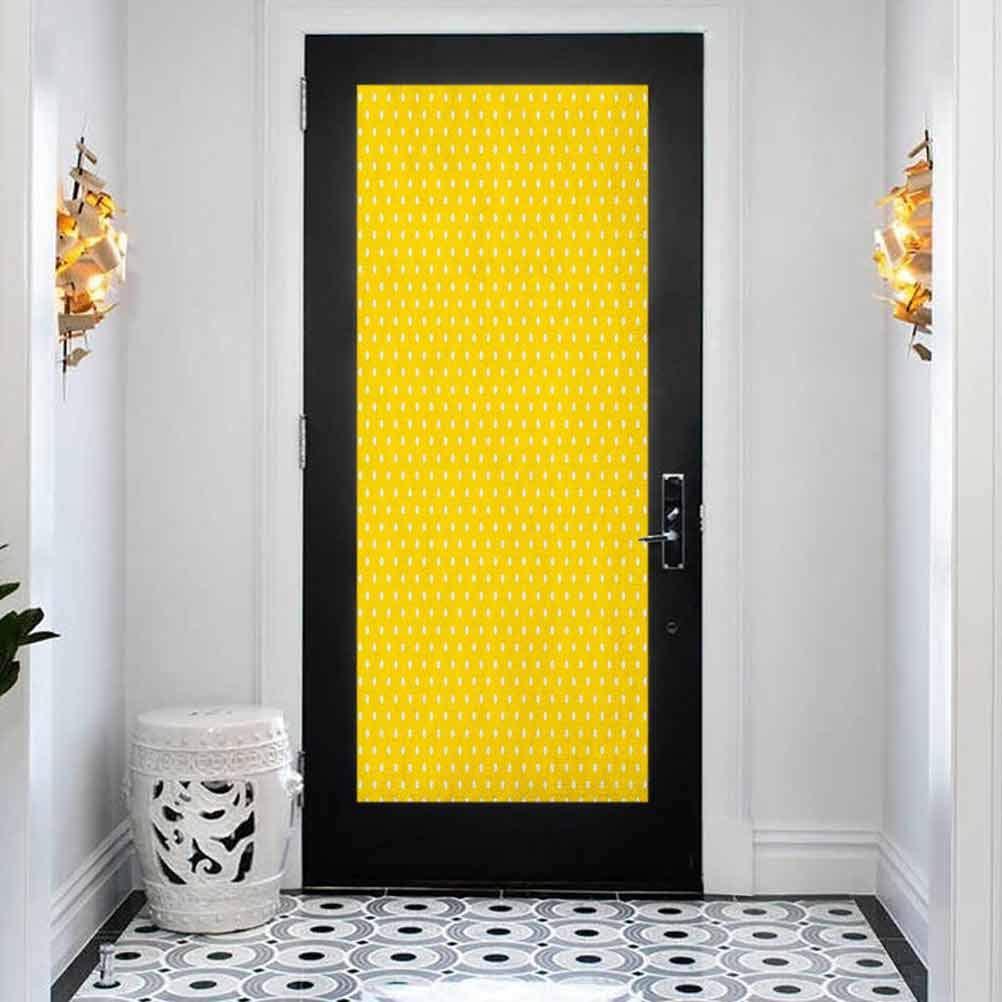 3D Door Sticker Wall Decals Vintage Trad Finally popular brand Mural Wallpaper Yellow Discount is also underway