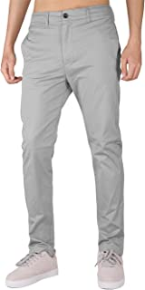 Men's Chino Casual Pants 5 Pockets Slim Fit Business Golf Dress