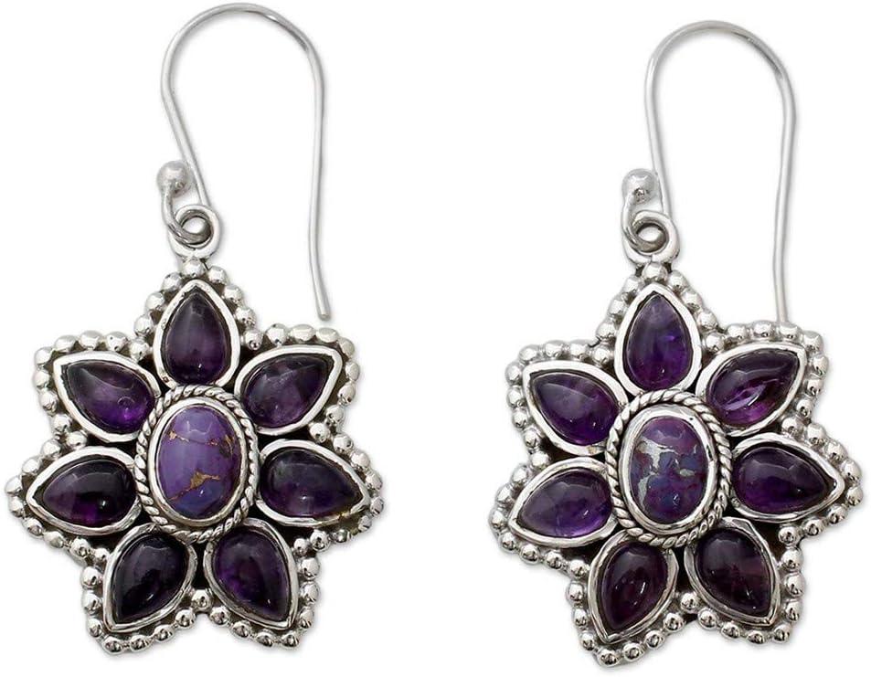 Myhouse Vintage Purple Stone Earrings Ear Jewelry
