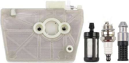 Kizut 038 Air Filter for Stihl 038 038AV MS380 Chainsaw Parts w Oil Filter 0000 350 3504 Fuel Filter Spark Plug Kit
