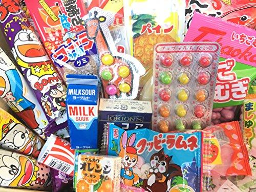 Japanese Snack Assortment 40 pcs of 32 types Full of 'DAGASHI', 'OHIMESAMA Snack Selection' (L)