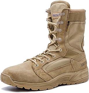 Amazon.es: Marrón - Botas de servicio militar / Calzado de trabajo ...