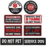 8 Pieces Service Dog Patch with Hook and Loop...