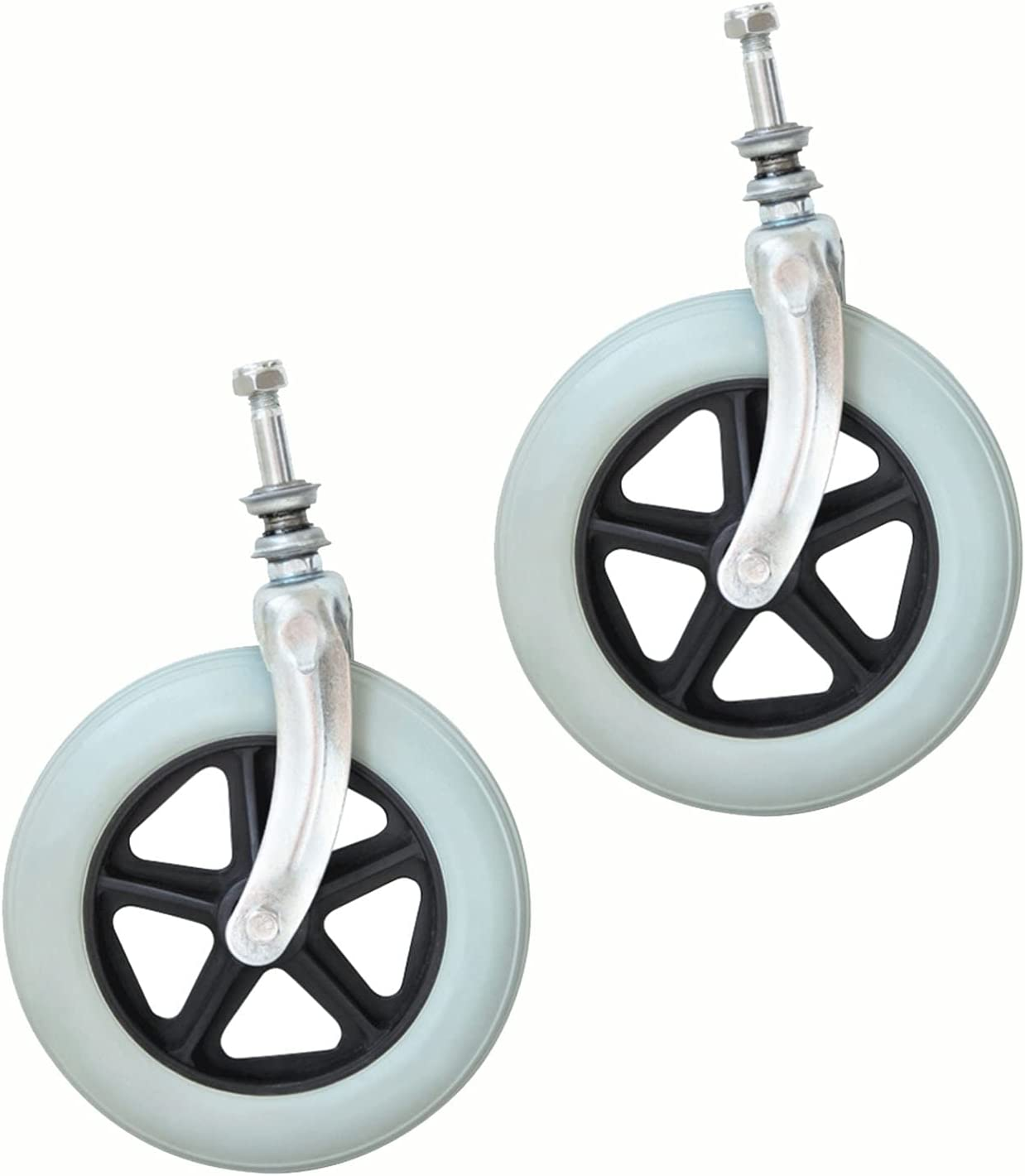 ASDFGHJ Two Small Gray Courier shipping free shipping Challenge the lowest price of Japan Front Rotating Wheels Casters Wheelchair