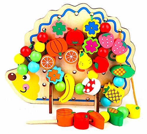 LOTUS LIFE® 知育玩具 紐通し ひもとおし おもちゃ 知育 木製