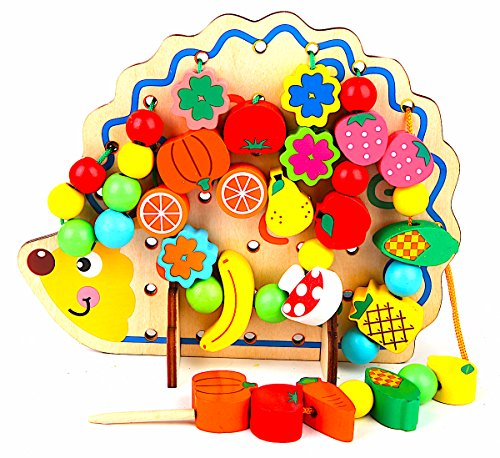 LOTUS LIFE (ロータスライフ) 紐通し 知育玩具 ひもとおし おもちゃ 木製