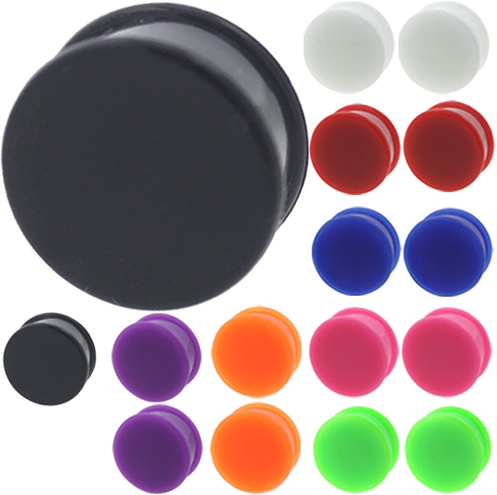 MoDTanOiz 5 popular 16 Pieces of 3mm to Large special price 30mm gauges Plugs Tunnels Silicone
