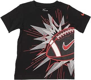 Toddler Boy's Comic Football Short Sleeve Crew Neck Cotton T-Shirt