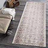 Carpeto Rugs Läufer Teppich Weiß Creme Orientalisch Flur Eingangsbereich Meterware - Teppichläufer in Viele Größen 80 x 180 cm