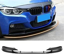 MotorFansClub Front Bumper Lip Splitter for 2012-2018 BMW F30 3 Series M Style Trim Protection Splitter Spoiler, Carbon Fiber Surface
