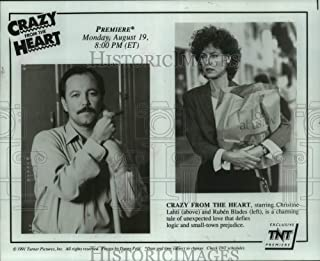 Historic Images - 1991 Press Photo Christine Lahti & Ruben Blades Star in Crazy from The Heart