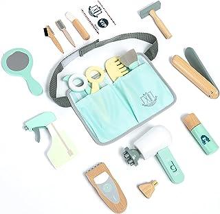 umu چوبی بچه های آرایشگر برای کودکان نوپا ، جعبه ابزار آرایش اسباب بازی کلاسیک اسباب بازی برای دختران و پسران 3 ، 4 و 5 ساله