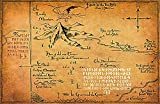 Thorin's Map from The Lord of The Rings and The Hobbit Middle Earth Poster Print (11x17 inches)