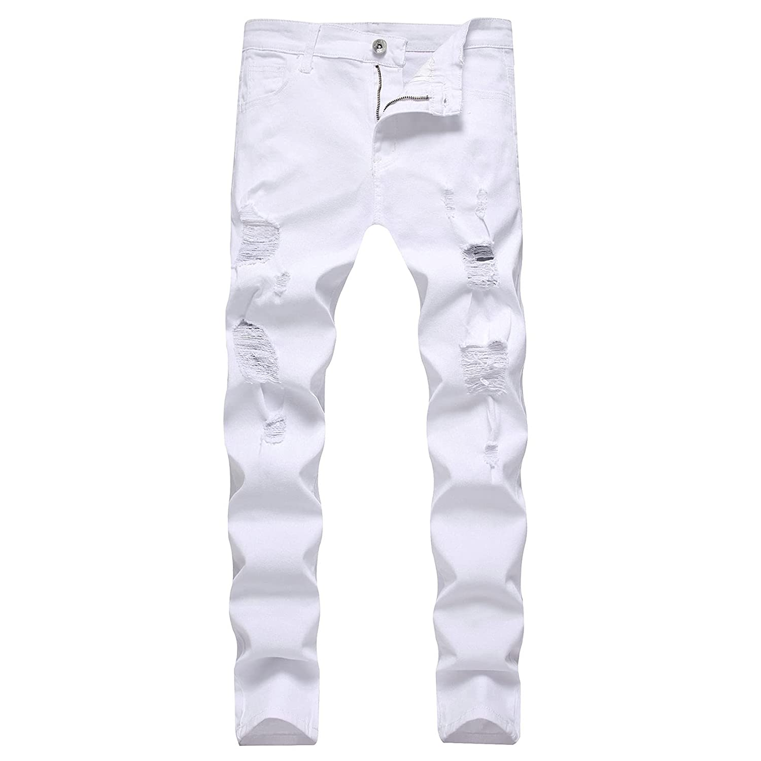 Men's New Orleans Mall Ripped Manufacturer OFFicial shop Skinny Biker Jeans Fit Pa Slim Distressed Destroyed