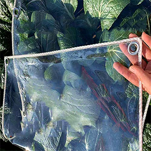 Transparente Cubierta transparente de lona de polietileno de alta resistencia, impermeable, 100% resistente a los rayos UV, lona a prueba de rasgaduras / rasgaduras, muebles de exterior, grosor 0,45