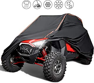 kemimoto [Upgrade] UTV Cover Waterproof Heavy Duty Cover with Reflective Strip for Polaris RZR 1000 900 800 700 570 XP Turbo S Protect Your SxS Vehicle from Snow, Rain, Dirt, Dust and Sun UV Rays