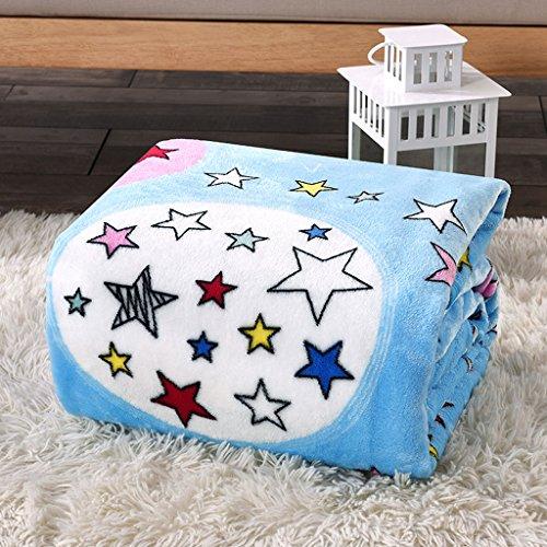 Couvertures Bleu Chaud Forme D'étoile Motif Chambre de Lit Loisirs Polyester Matériel
