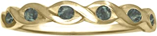 Natural Color Change Alexandrite Ring in 14K Yellow Gold