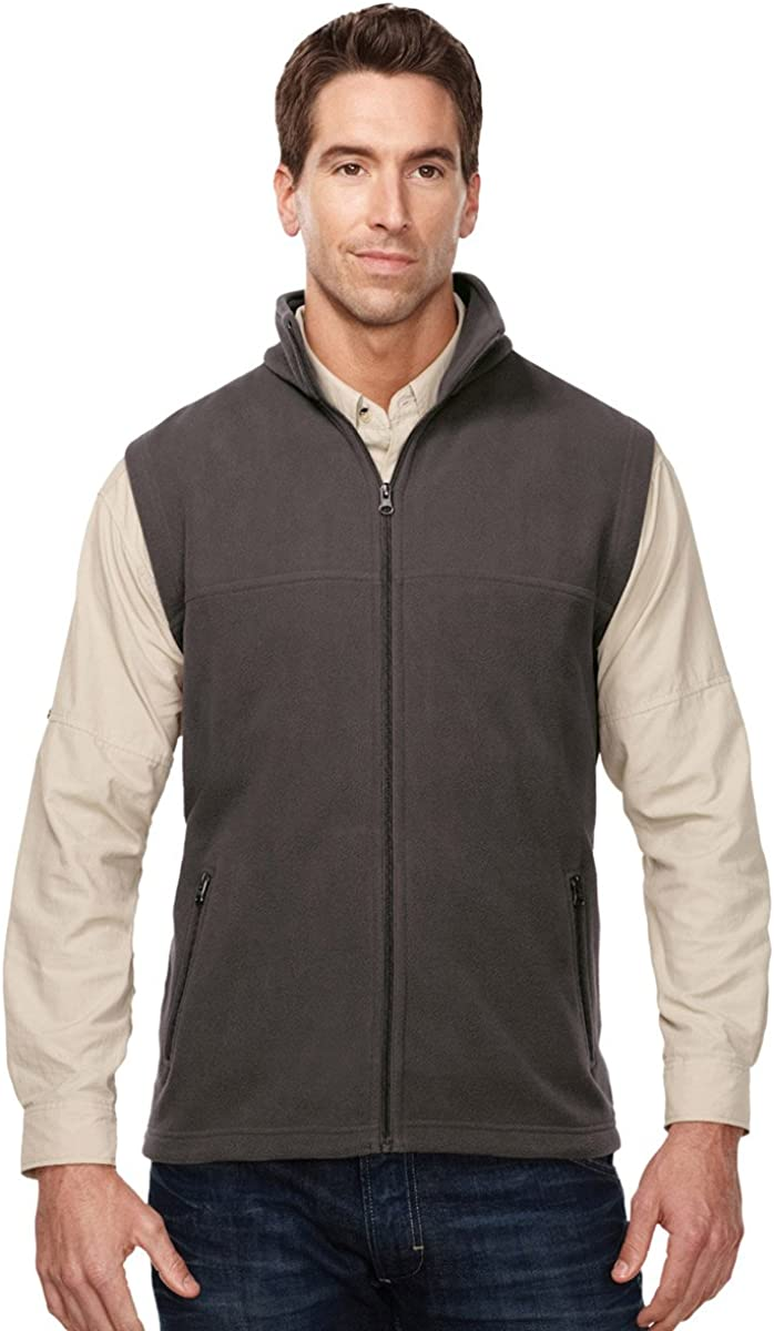 Tri-Mountain Peak Performers 8.4 oz Fleece Vest - F8358 Expedition,Charcoal,Large