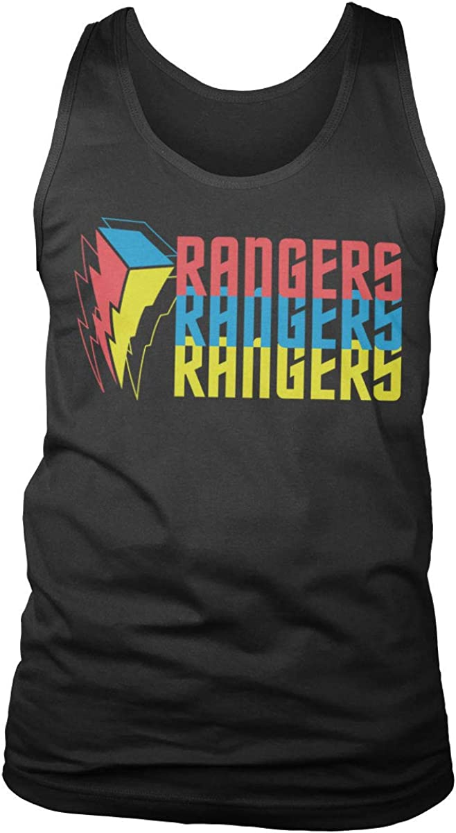 Power Outstanding Purchase Rangers Officially Licensed Tritone Ves Mens Top Tank Logo