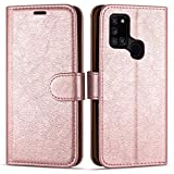 """Case Collection Premium Leather Folio Cover for Samsung Galaxy A21s Case (6.5"""") Magnetic Closure Full Protection Book Design Wallet Flip with [Card Slots] and [Kickstand] for Galaxy A21s Phone Case"""
