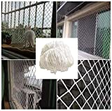 Protective net decoration / Cuerda blanca neto red de seguridad Balcón anti-caída neta de...