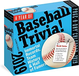 365 Days of Baseball Trivia 2019 Page-A-Day Calendar