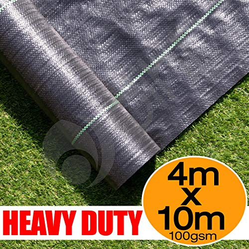Elixir Gardens Woven Weed Membrane Ground Cover 3m x 10m plus 20 Free pegs