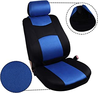 ECCPP Universal Car Seat Cover w/Headrest - 100% Breathable Mesh Cloth Stretchy Durable for Most Cars Trucks Vans(Blue/Black)