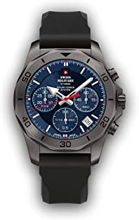 Swiss Military by Chrono - Sms34072.gy6rub Reloj para Hombre Analógico de Cuarzo con Brazalete de Silicona SMS34072.08