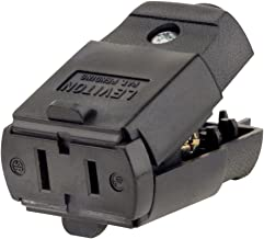 Leviton 102-EP 15 Amp, 125 Volt, 2P, 2W, Connector, Straight Blade, Residential Grade, Black