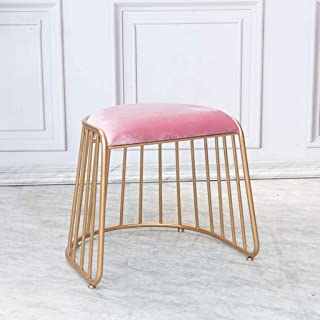 Fashion Dressing Chair Change Shoe Stool White Long Hair Stool Chair Bedroom Dressing Stool Makeup Bed Stool Traveling Children Furniture Children Chairs