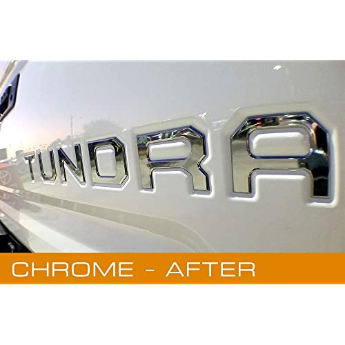 EyeCatcher Toyota Tundra 2014-2019 Tailgate Insert Letters (Chrome)