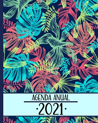 Agenda Anual 2021: Planificador Semanal/ Mensual+ Calendario, Organizador Semana Vista, 52 Semanas,12 Meses ¡Organiza tu día! (Spanish Edition)