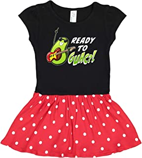 Ready To Guac with Avocado Playing Guitar Toddler Dress