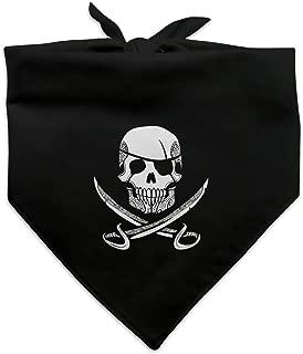 Graphics and More Pirate Skull Crossed Swords Tattoo Design Dog Pet Bandana - Black