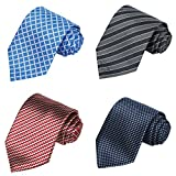 xtra long neck ties - KissTies Set of 4 Extra long Ties 63'' XL Necktie Tall Tie + 1 Magnetic Boxes