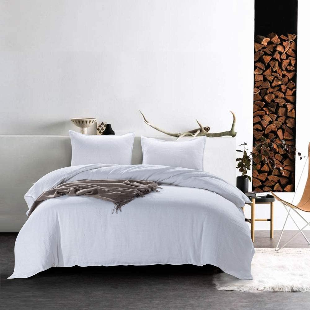 meadow park 祝日 お中元 King Linen Cotton Duvet Shams 3 Cover P Pillow with