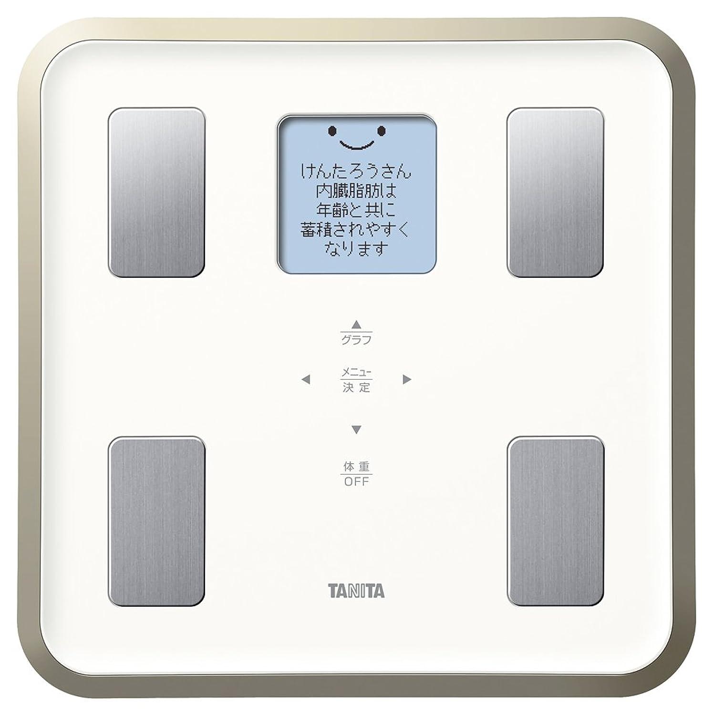 面積宝石短命タニタ 体重 体組成計 バックライト 日本製 ホワイト BC-810 WH フルドット液晶の表示画面採用/顔イラストや応援メッセージ表示