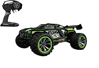 لعبة سيارة بعجلات كبيرة وريموت كنترول للاولاد من اتش بي تويز HB-ZG1804 - اسود واخضر
