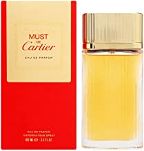 Cartier Must Gold Women's Eau de Parfum Spray, 3.3 Fluid Ounce