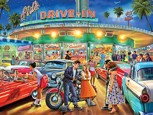 White Mountain Puzzles American Drive-in - 1000 Piece Jigsaw Puzzle