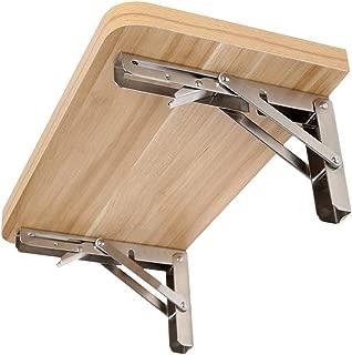10 inch Folding Shelf Bracket,304 Stainless Steel Folding Wall Bracket, Heavy Folding Rack, Table Folding Shelf Shelf, Short Release arm(2PCS)