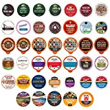 Crazy Cups Coffee Variety Pack, Single Serve Pods for Keurig K Cup, 40Count - Assorted Flavors Like Espresso, Dark Roast, Breakfast Blend, Coffee Variety Pack, 40Count, Yeller