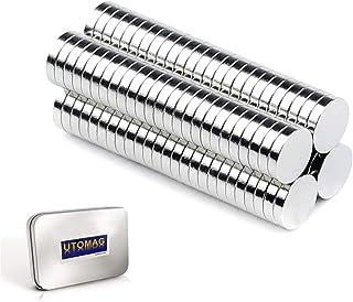 超強力 小型 多用途 丸形マグネット 磁石 小型丸ディスク磁石 冷蔵庫、事務所、科学、工芸に最適 (5x1mm - 100個)